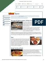 Essen in Spanien