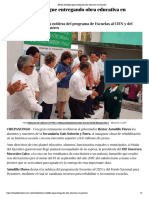 13-05-2019 Héctor Astudillo sigue entregando obra educativa en Guerrero.