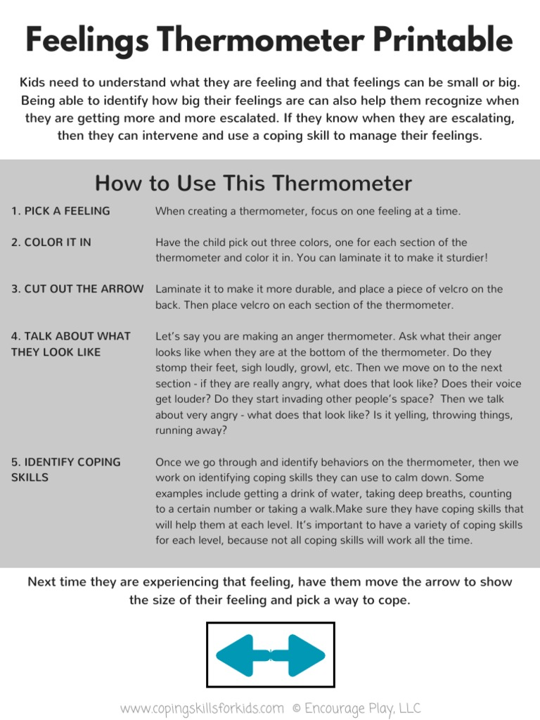 picture regarding Feelings Thermometer Printable named My Thoughts Thermometer(1) Psychology Behavioural Sciences