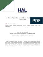 A Direct Algorithm for 1D Total Variation Denoising
