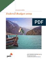 AFF's Tax Memorandum on Federal Budget 2019