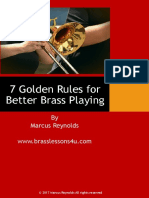 7 Golden Rules for Better Brass Playing
