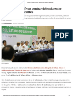 16-05-2019 Guerrero y Unicef Van Contra Violencia Entre Infantes y Adolescentes.