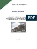 Proyecto Algas PROSUR