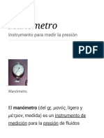 Manómetro - Wikipedia, La Enciclopedia Libre