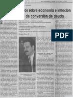 Edgard Romero Nava - Efectos Perversos Sobre Economia e Inflacion Tiene Programa de Conversion de Deuda - El Universal 14.07.1990