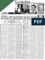 Edgard Romero Nava - Inutiles Enfrentamientos Agotan Al Pais Frenando Las Alternativas de Desarrollo - El Impulso 09.07.1990