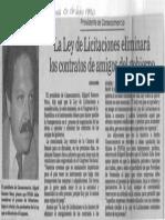 Edgard Romero Nava - La Ley de Licitaciones Eliminara Los Contratos de Amigos Del Gobierno - Panorama 01.07.1990