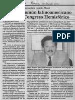 Edgard Romero Nava - Mercado Comun Latinoamericano Analizara Congreso Hemisferico - Reporte 30.08.1990