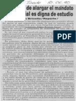 Edgard Romero Nava - Propuesta de Alargar El Mandato Presidencial Es Digna de Estudio - Notitarde 21.06.1990