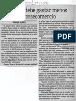 El Estado Debe Gastar Menos Enjuicia Consecomercio - El Nacional 07.07.1990