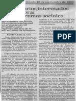 Empresarios Interesados en Colaborar Con Programas Sociales - El Nacional 15.09.1990