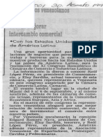 Empresarios Venezolanos en Miami Buscan Mejorar Intercambio Comercial - 30.08.1990