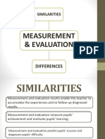 Differences Similarities Evaluation Measurement