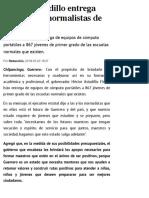 20-05-2019 Héctor Astudillo entrega estímulos a normalistas de Guerrero.