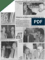 Sociales - Almuerzo en Honor Al Presidente de Avex Alfredo Rivier - Reporte 18.07.1990