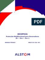 Protección Multifuncional Para Generadores. Manual Técnico - Editorial ALSTOM