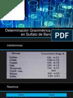 Determinación Gravimétrica Del Azufre en Sulfato de Bario
