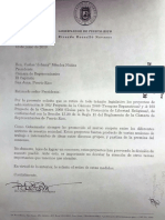 Carta de Ricardo Rosselló Nevares