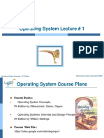 Operating System Concepts, Lecture 1