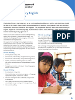 23894 Cambridge Primary English Curriculum Outline