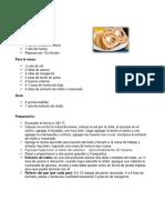 recetario panaderia
