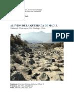Aluvión Quebrada Macul