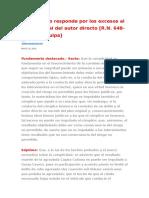 Cómplice No Responde Por Los Excesos Al Plan Original Del Autor Directo [R.N. 648-2009, Arequipa]