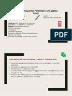 Requisitos Para Declaración Anual