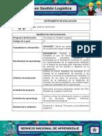 IE Evidencia 5 Manual Procesos y Procedimientos Logisticos