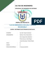 Perfil de Proyecto Luz de Emergencia Con Leds y Batería Recargable