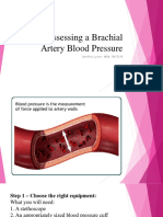Assessing a Brachial Artery Blood Pressure
