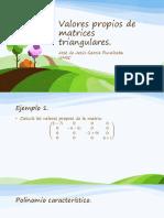 Valores propios matrices triangulares