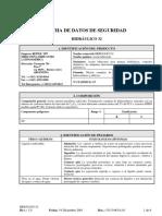 536_Aceite Hidráulico 32 - Hoja de Seguridad Producto