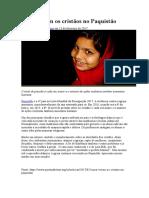 Como Vivem Os Cristãos No Paquistão