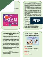 Diptico Derecho a La Salud