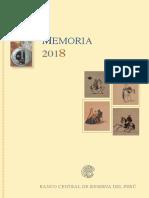 Memoria Bcrp 2018