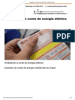 Analisando a Conta de Energia Elétrica - Eletron Energia