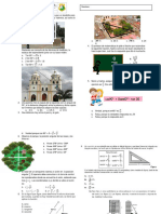 Bimestral de Matematicas 10 Segundo Periodo