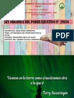 LEY ORGANICA DEL PODER EJECUTIVO N° 29158