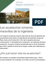 Los acueductos romanos, maravillas de la ingeniería