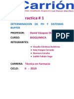 Determinacion de Ph y Sistemas Buffer