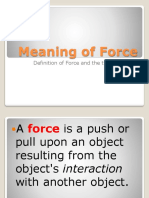 Meaning of Force