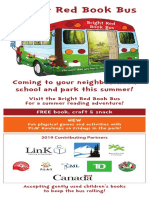 2019 bright red book bus rack card