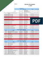 Horarios Provisionales I-2019