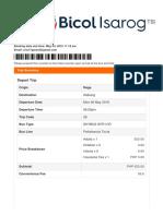 Pao Penafrancia Ticket