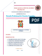 Plan y Programa de Auditoria Trabajo Encargado