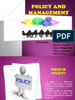 Policy and Management