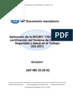 IAF MD22-2018 Traducción no oficial