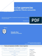 Material Técnica de Liquidación y Monto Consumido - Reunión 05-06-2019